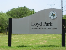 the entrance sign for Loyd Park