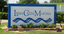 the Lynn Creek Marina sign